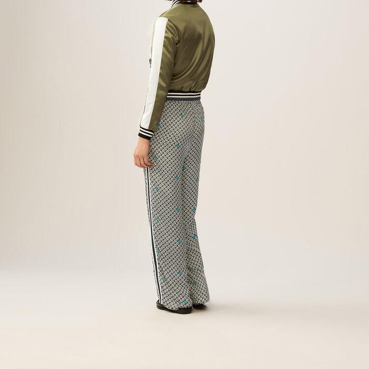 Pantalon fluido estampado : Pantalones color IMPRIME