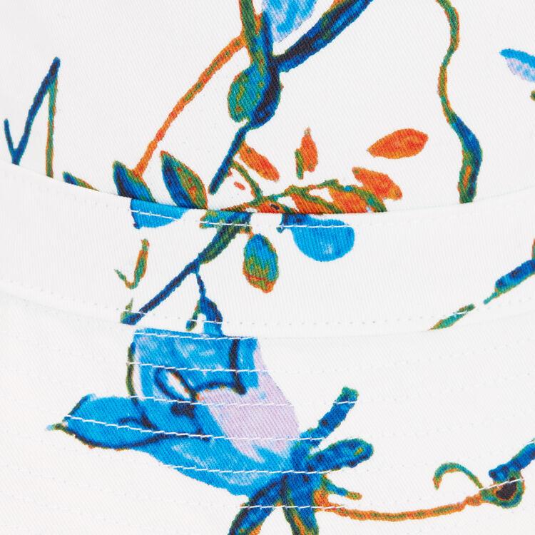 Goro de algodón con flores : Pañuelos & Ponchos color Blanco