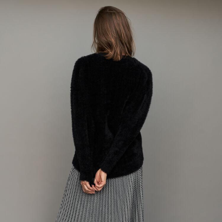 Jersey en piel falsa : Malla color Negro