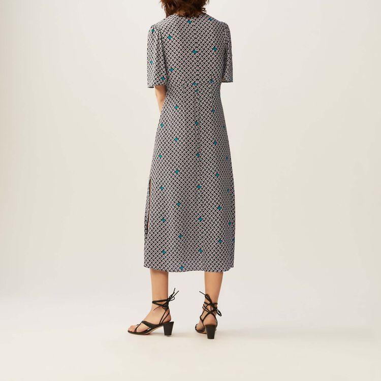 Vestido largo estampado : Vestidos color IMPRIME
