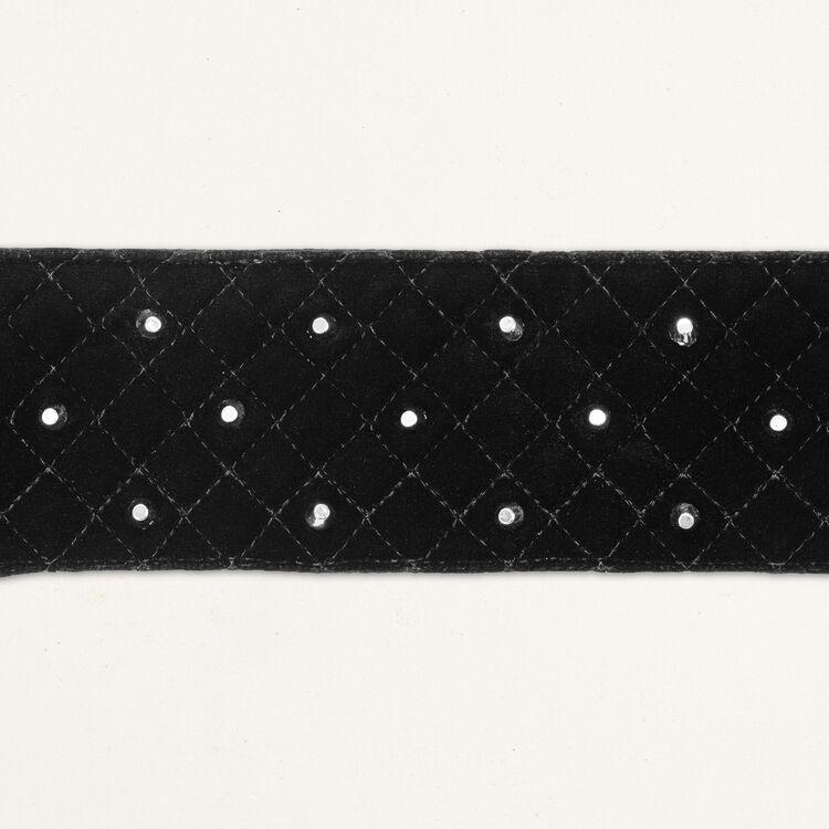 Cinturón ancho anudado con tachuelas : Cinturones color NEGRO