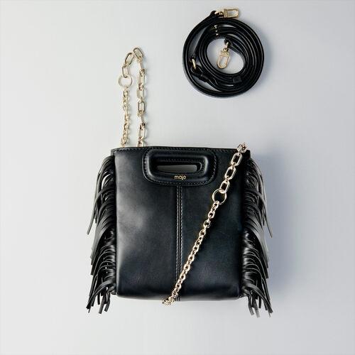 Bolso M Mini de cuero con cadena : M Mini color Negro