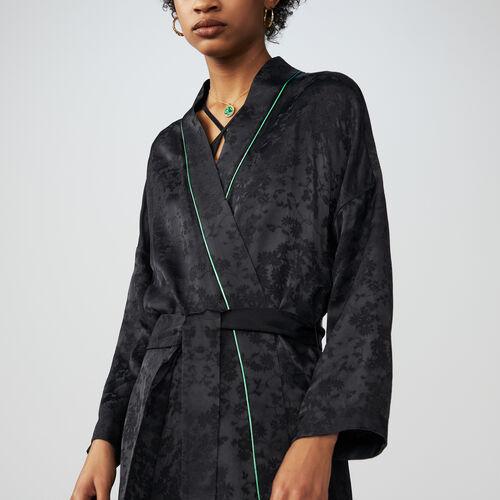 Kimono long jacket : Chaquetas color Negro