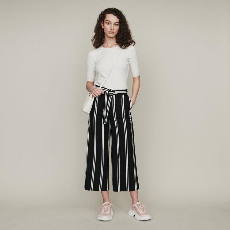 Pantalón ancho 7/8 de rayas : Pantalones y Jeans color Rayas