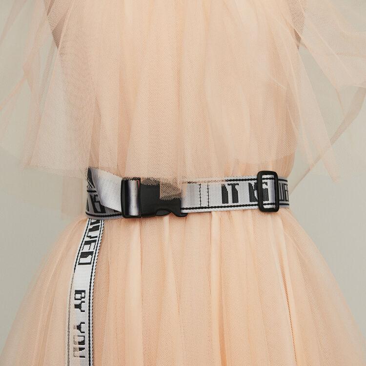 Cinturón cincha : Cinturones color Blanco