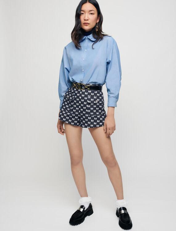 Short de jacquard con lazos - Faldas y shorts - MAJE
