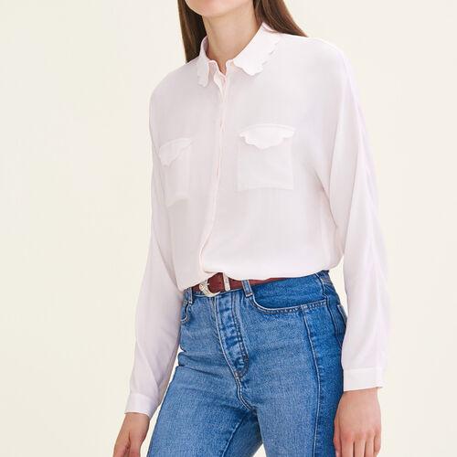 Camisa de mezcla de seda - Camisas - MAJE