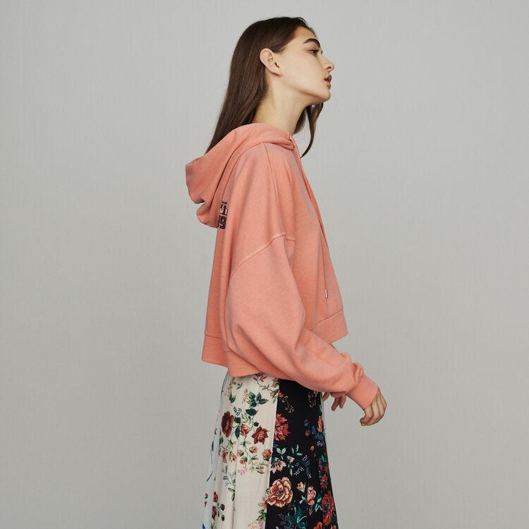 Sudadera corta con capucha : Summerparty-Tout_voir-IT color Coral