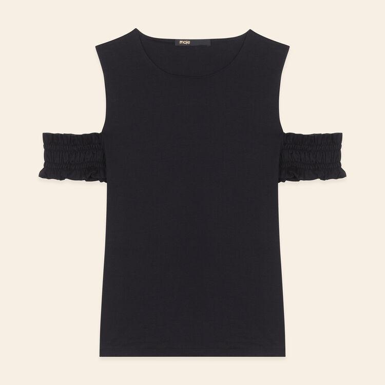 Top sin mangas con hombros descubiertos : T-shirts color Negro