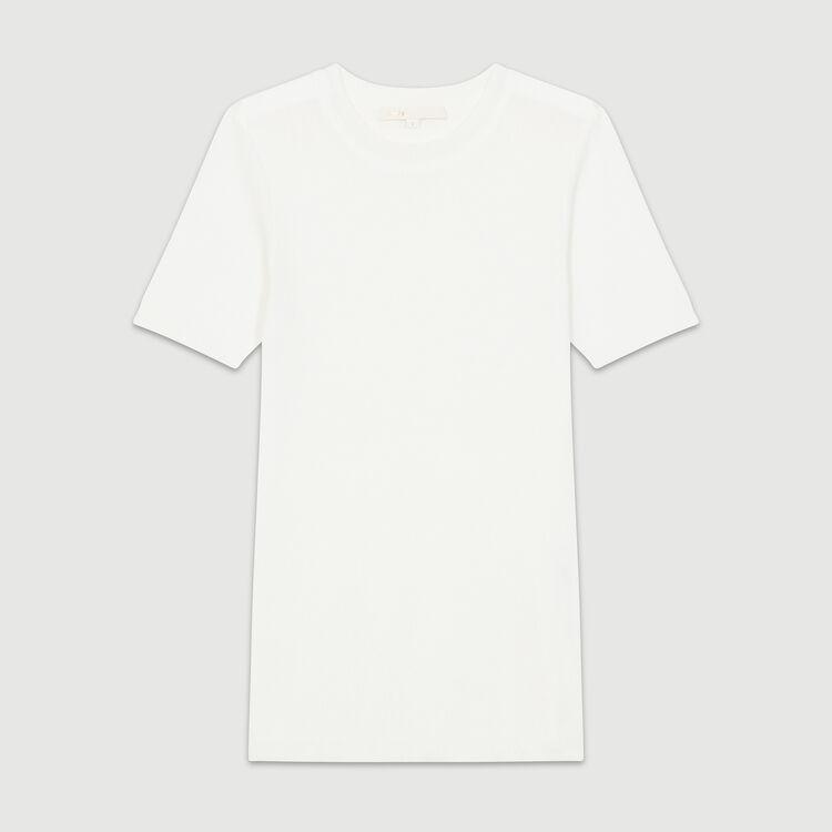 Jersey de punto fino : Malla color Crudo