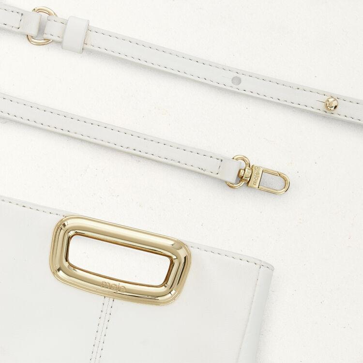 Bolso M Mini Skin de cuero y metal : M Skin color Blanco