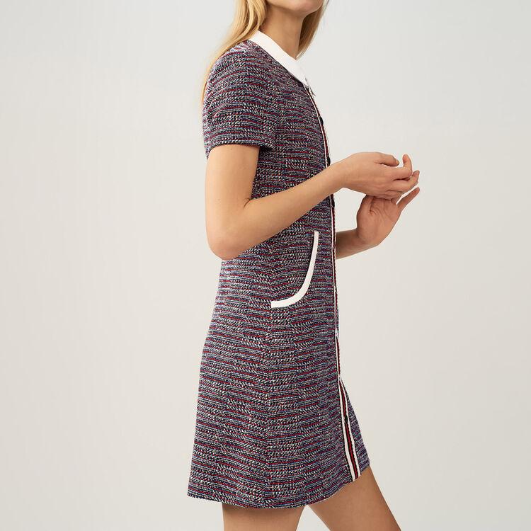 Vestido en tweed : Work Wear color Jacquard