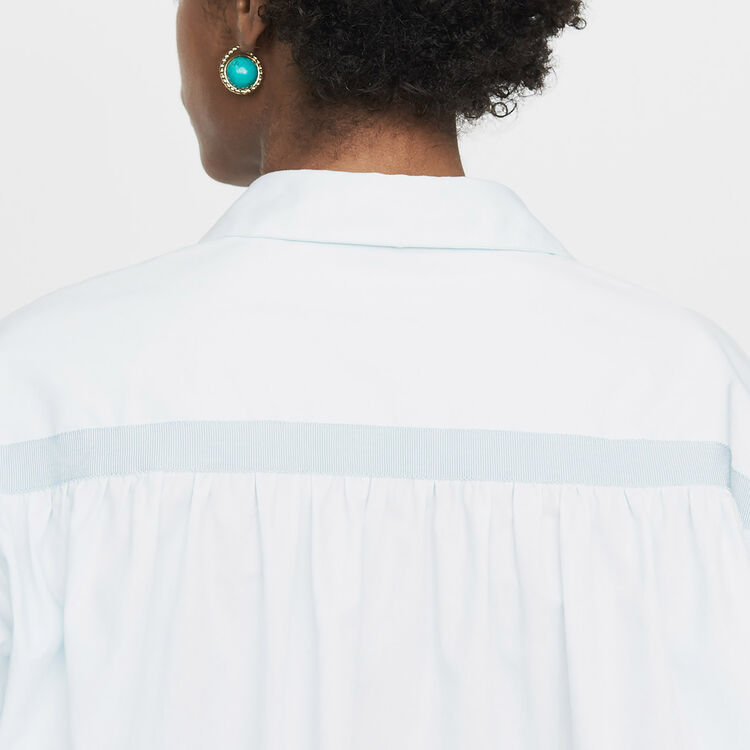 Blusa oversize con gros-grain : Nueva Colección color Azul Celeste