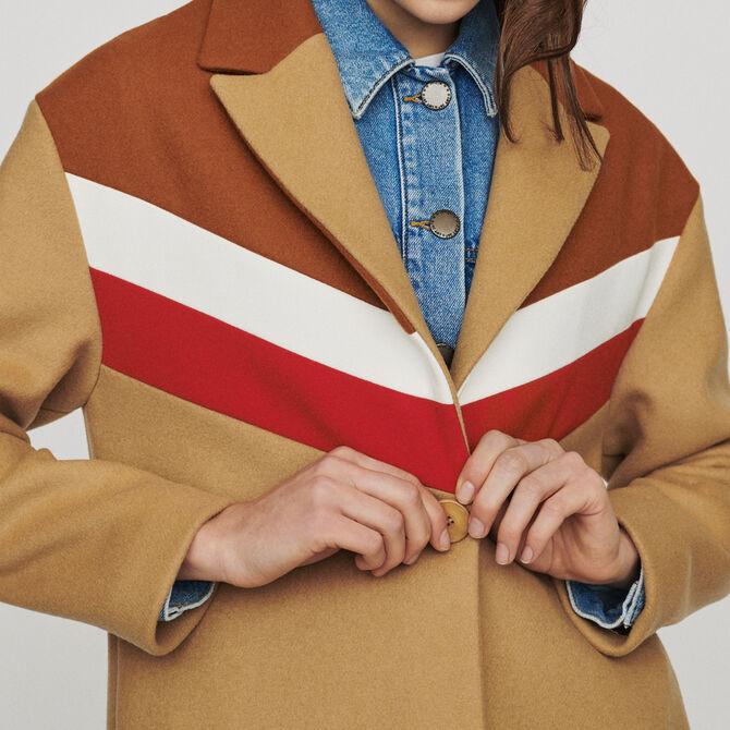 Abrigo oversize de lana virgen - Ver todo - MAJE