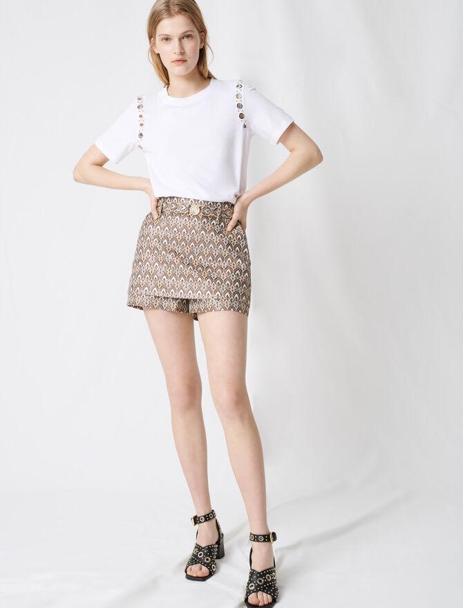 Short jacquard con cinturón desmontable - Faldas y shorts - MAJE