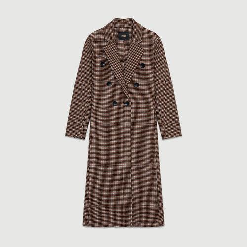 Abrigo de lana, estampado pata de gallo : Abrigos color CARREAUX