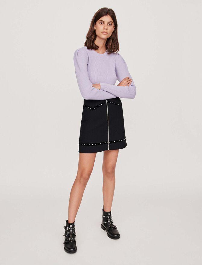 Falda recta incrustada de clavos - Midseason-Sales_UK_30% - MAJE