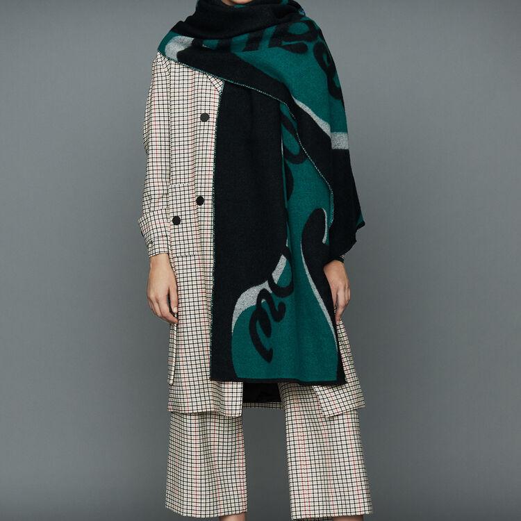 Abrigo recto de cuadros : Abrigos color CARREAUX