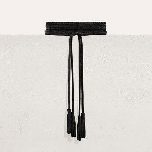 Anchos cinturón de ante : Nueva colección color Negro