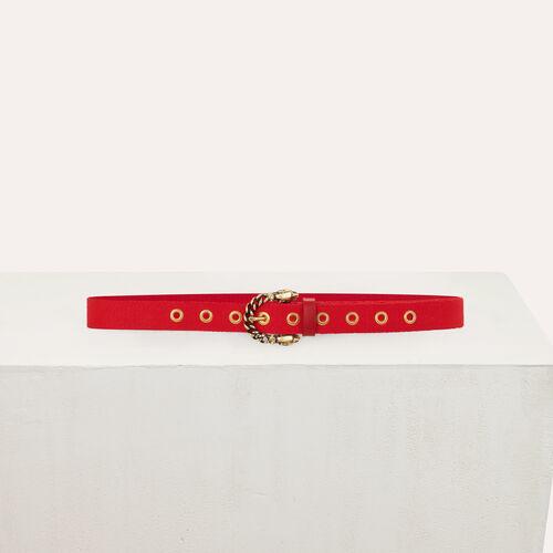 Cinturón pantalón con hebilla pantera : Cinturones color Bicolor
