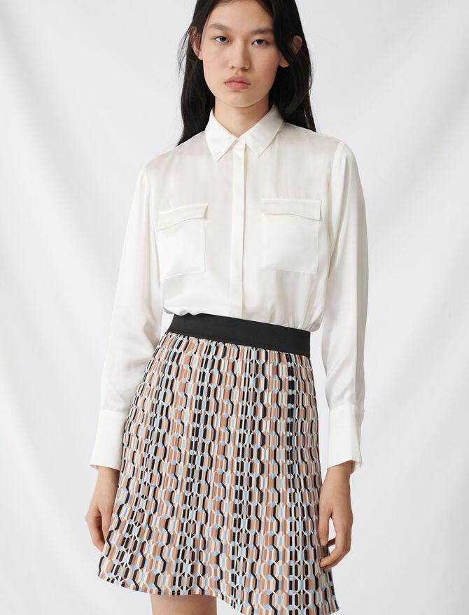 Blusa en raso de seda - Tops y Camisas - MAJE
