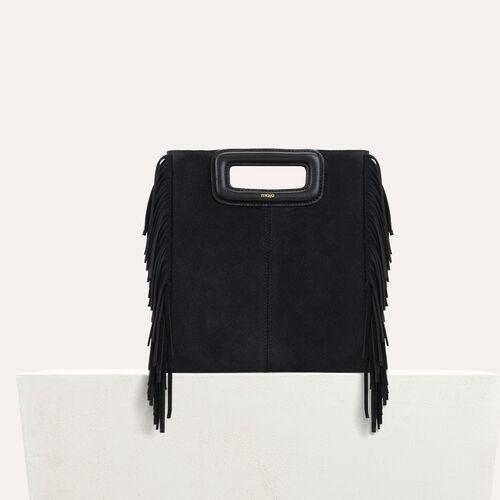 Bolso M de cuero de gamuza : Nueva Colección color Negro
