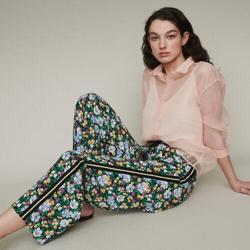 Pantalón de deporte estampado floral : Pantalones color Estampado