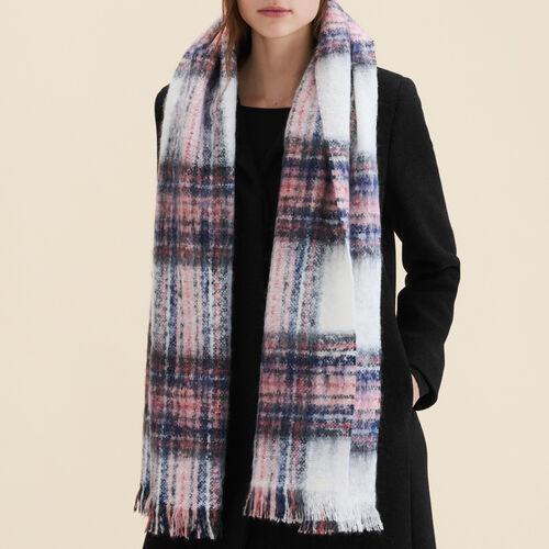 Bufanda gruesa a cuadros - Pañuelos y Bufandas - MAJE