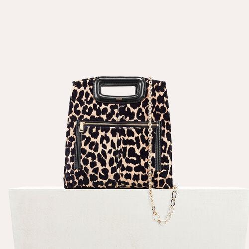 Bolso con estampado de leopardo - Bolsas M - MAJE