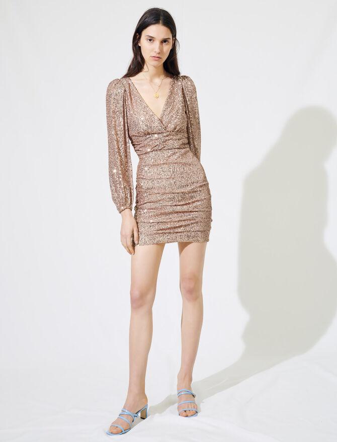 Minivestido de lentejuelas - Vestidos - MAJE