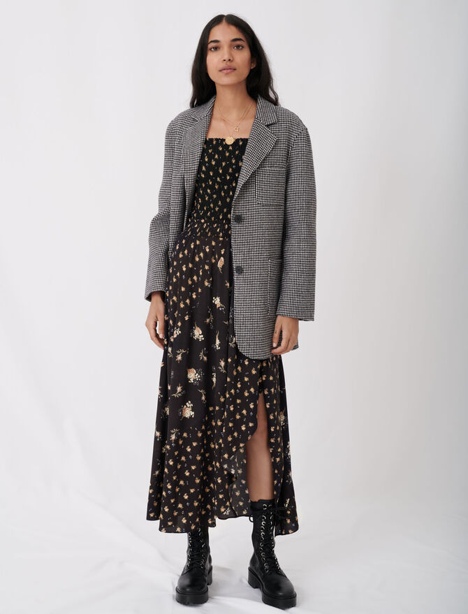 Abrigo de cuadros tipo chaqueta - Abrigos y Cazadoras - MAJE