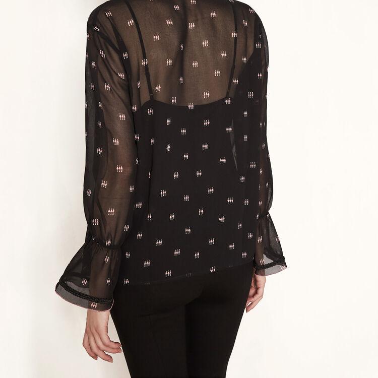 Blusa estampada con pasamanería : Colección color IMPRIME