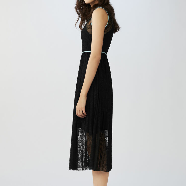 Vestido de encaje sin mangas : staff private sale color Negro
