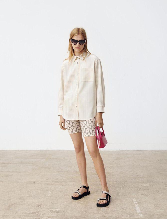 Camisa holgada de rayas - Tops y Camisas - MAJE