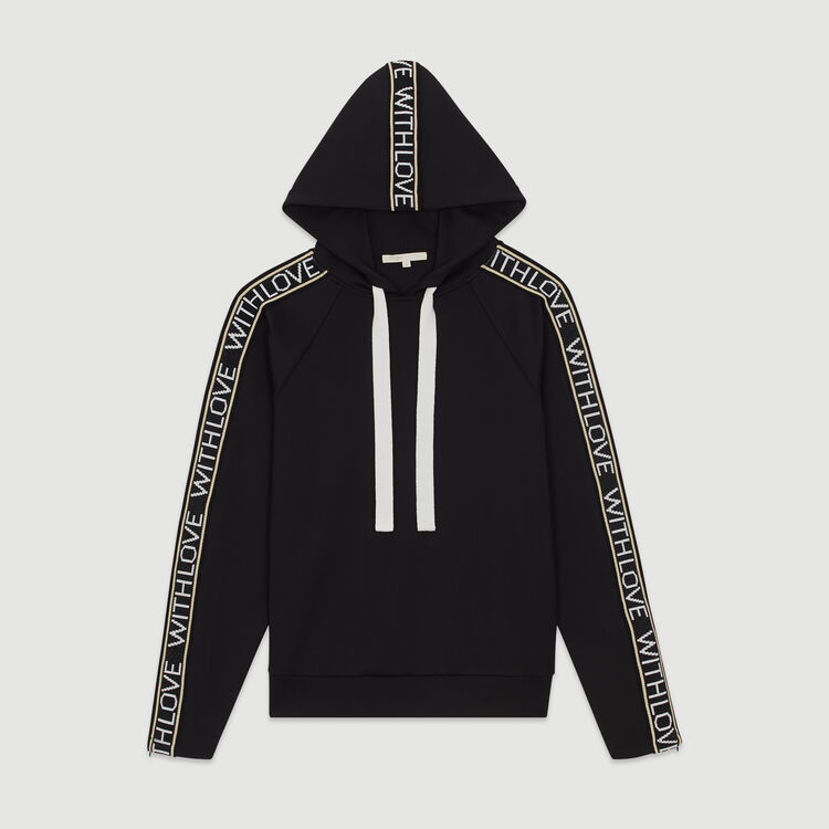 Sudadera con capucha : Jerseys y cárdigans color Negro