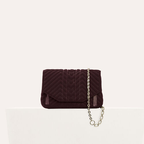 Bolso de noche de terciopelo acolchado : Black friday color BORDEAUX