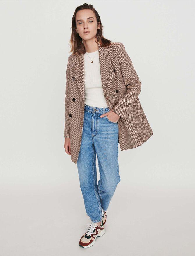 Abrigo de cuadros tipo chaqueta -  - MAJE