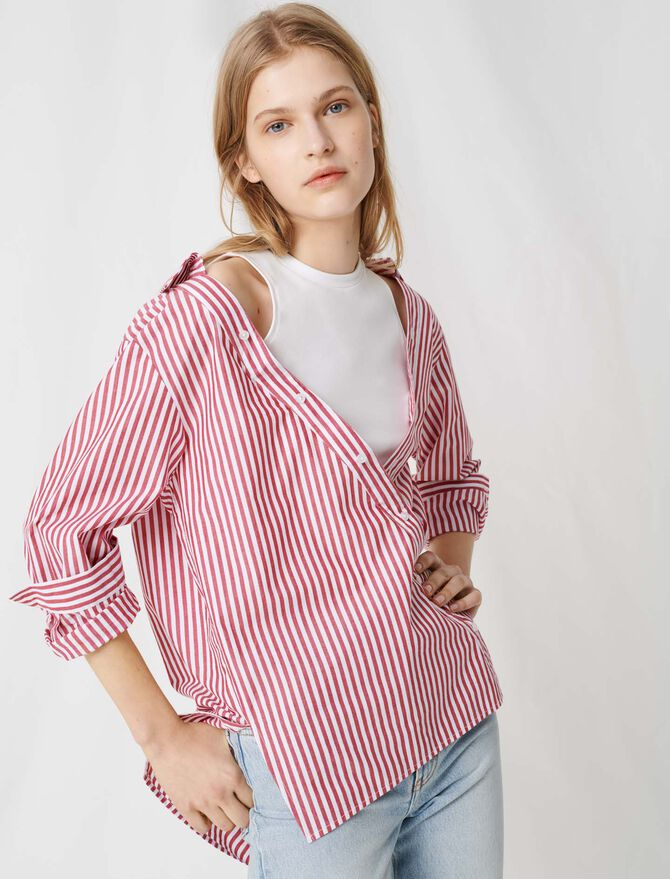Top de manga corta tipo pañuelo - Tops y Camisas - MAJE