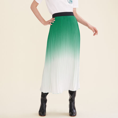 Falda plisada con teñido anudado : Faldas y shorts color Añil