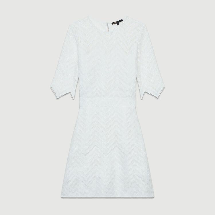 Vestido recto de encaje : Nueva Colección color Blanco