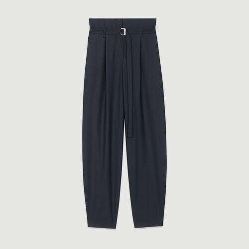 Pantalón pierna hancha ceñido abajo : Pantalones y Jeans color Azul Marino