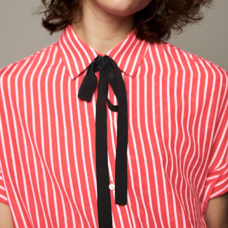 Camisa de rayas con lazo corbata : staff private sale color Rayas