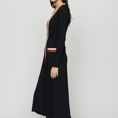 Vestido cruzado de punto : Ver todo color Negro