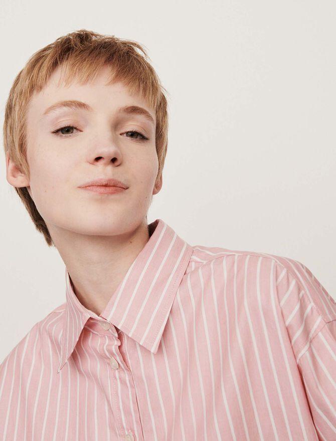Blusa oversize rayada - Tops y Camisas - MAJE