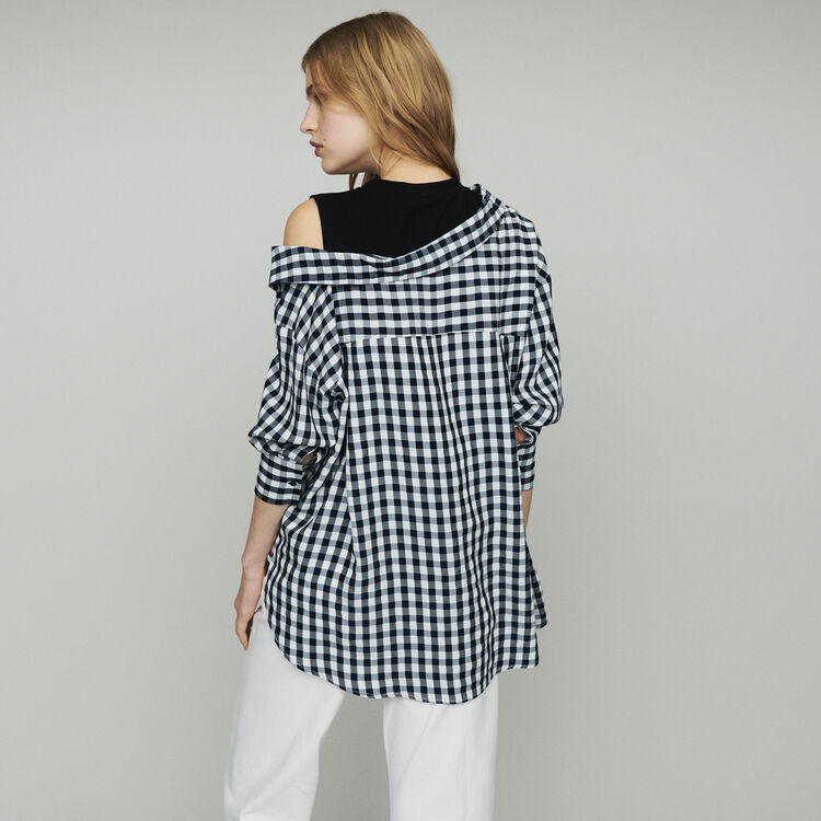 Camisa trompe-l'oeil en vichy : Tops color CARREAUX
