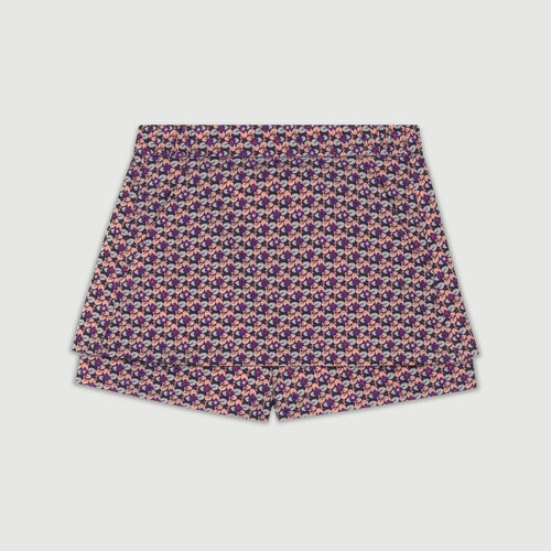 Vestido camisero asimétrico a rayas : Faldas y shorts color Jacquard