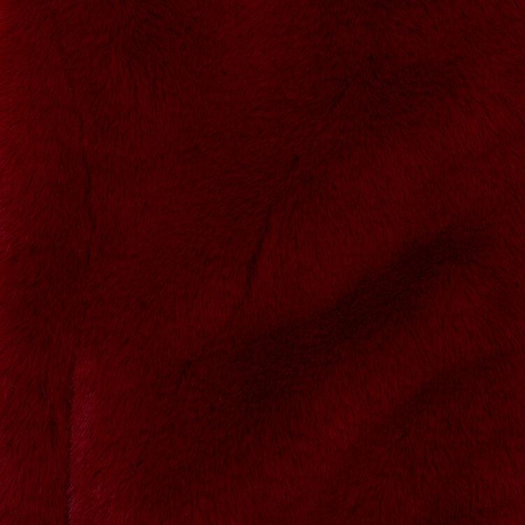 Cazadora corta de piel falsa : Cazadoras color Frambuesa