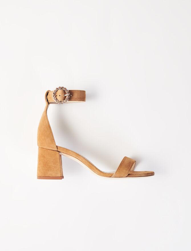 Sandalias de tacón medio con pulsera - Chanclas - MAJE