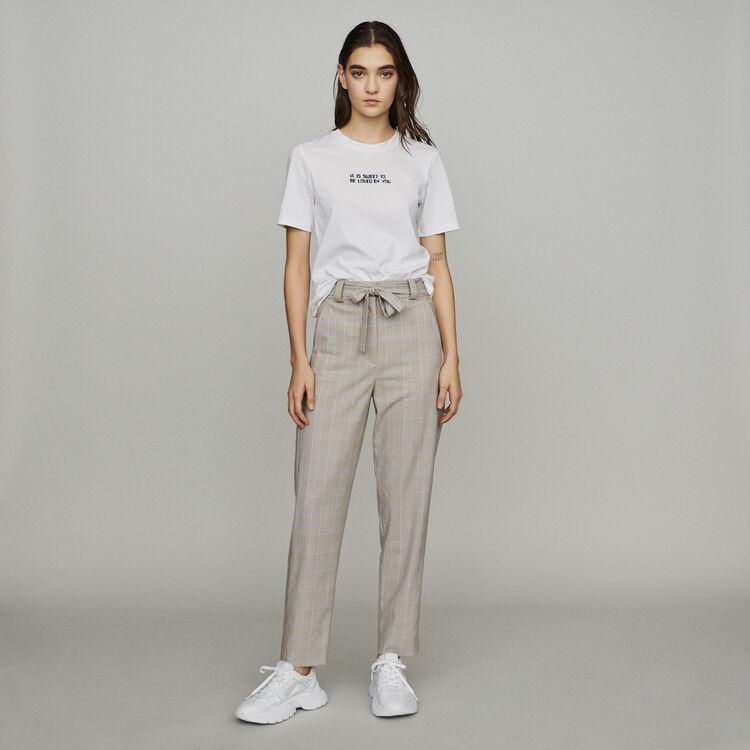 Camiseta con mensaje : T-Shirts color Blanco