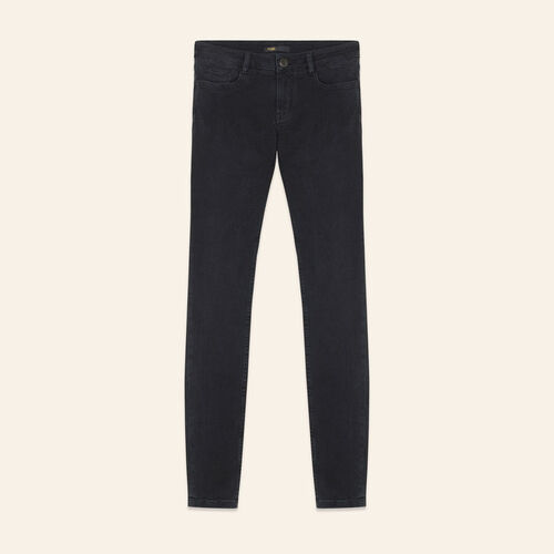 Vaquero skinny de algodón Stretch : Jeans color Antracita